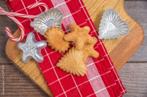 Norwegian Christmas Cookies Sandbakkels Stock Photo And Royalty