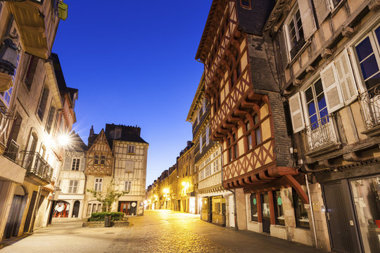 Streets of old town in Quimper