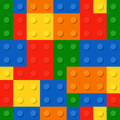 resolution and quality seamless background from a colored plastic bricks.