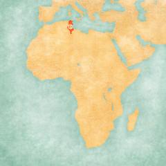 Map of Africa - Tunisia