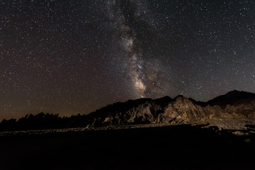 Night Sky with Milky Way and Starts