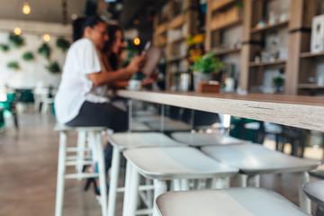 Cafe interior background