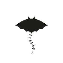 Halloween kite EPS 10. Vector illustration black bat on white background