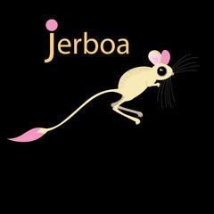 Vector funny jerboa