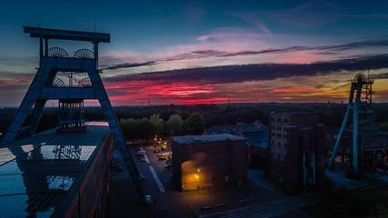 Zeche Ewald bei Sonnenuntergang