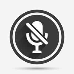 No Microphone sign icon. Speaker symbol.