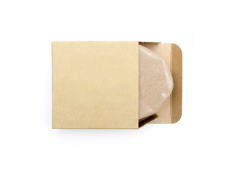 kraft packing on a white background