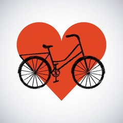 love my bicycle lifestyle concept icon vector illustration design
