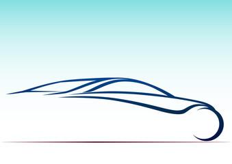 Çizgiler ve otomobil logosu