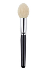 White natural powder makeup brush. Isolated. White background
