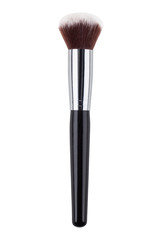 Duo fibre foundation makeup brush. Isolated. White background
