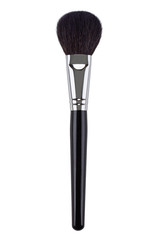 Black natural powder makeup brush. Isolated. White background