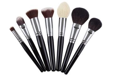 Makeup brushes set. Isolated. White background