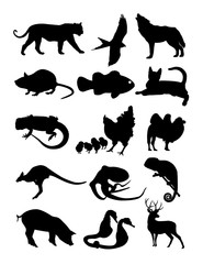 set animal silhouette