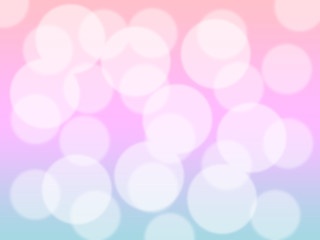 Soft sweet blurred pastel color background with bokeh. Abstract gradient desktop wallpaper.