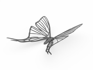 Butterfly render isolated on white