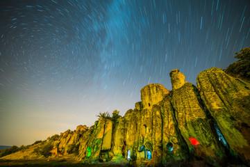 tarihi doku ve gökyüzü yıldızları