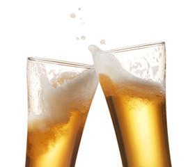 Fototapete - beer toasting