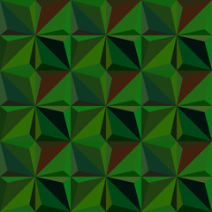 green triangle seamless pattern.Fashion graphic design.Vector illustration. Optical illusion 3D Modern stylish abstract texture. Template for print, textile, wrapping, decoration and businesses.
