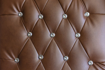 Vintage brown leather texture sofa.