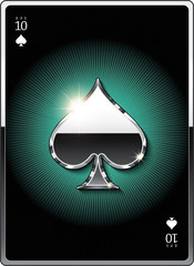 """Gold suit symbol """"spades"""" for the design of playing cards and the design of the casino sites. Eps 10"""