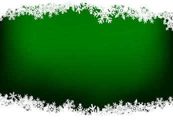 Christmas snow green