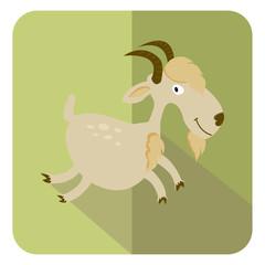 goat  logo symbol flat icon vector illustration