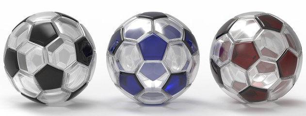 Soccer ball. 3D illustration. 3D CG.