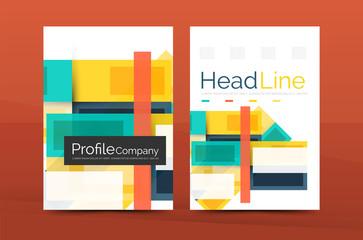 Modern colorful line composition designs