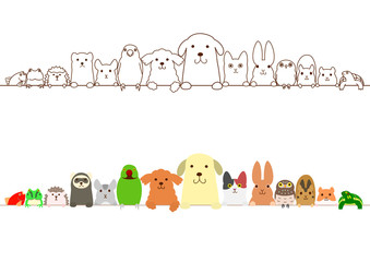 pet animals border set