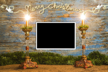 Christmas greeting to put a photo