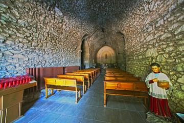 capilla santuario catolico del far publica en girona cataluña,españa siglo XV