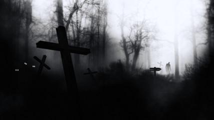 Dark Horror Halloween  Gravestone  Abstract Background.