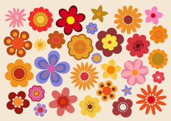 Fleurs des années soixante-dix (part 3) Wall mural
