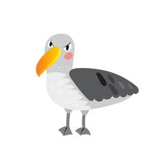 Albatross bird cartoon character. Isolated on white background. Vector illustration.