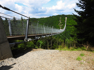 suspension bridge 300 meters long - color