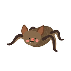 Vampire Bat animal cartoon character. Isolated on white background. Vector illustration.