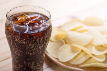 potato chips with cola