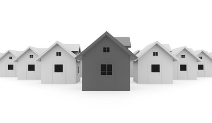 Houses concept rendered colored