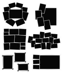 Photo frames composition set on white background. Vector design