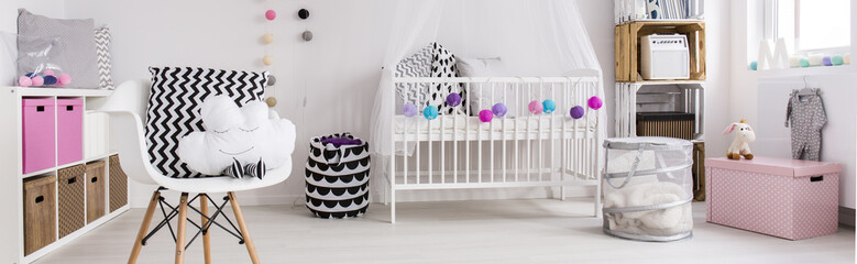 Ideal home space for a baby girl