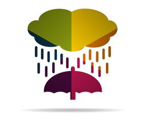 rain multicolor icon vector