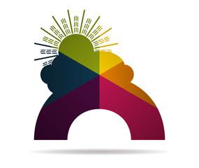 rainbow multicolor icon vector