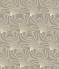 concentric circles scales seamless pattern in soft gray shades