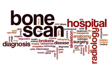 Bone scan word cloud