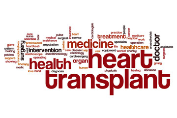 Heart transplant word cloud