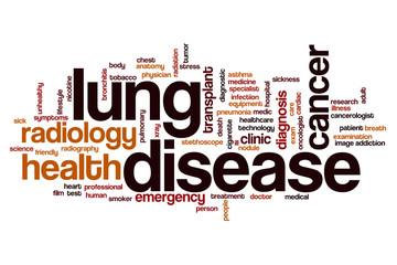 Lung disease word cloud