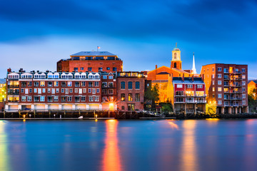 Portsmouth, New Hampshire Skyline Wall mural