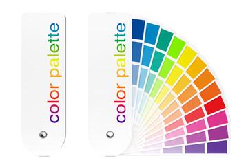 Color Palette Guide. 3d Rendering