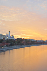 beautiful view of Kremlin at sunrise summer